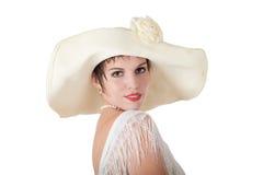 Mulher em um chapéu Foto de Stock Royalty Free