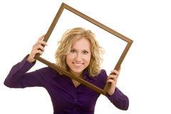 Mulher em um frame Imagem de Stock