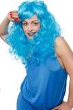 Mulher em um humor flirty imagens de stock royalty free