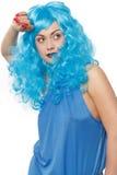 Mulher em um humor flirty foto de stock royalty free