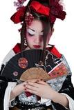 Mulher em um quimono japonês imagens de stock