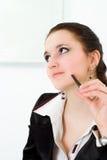 Mulher em um terno de negócio preto Foto de Stock Royalty Free