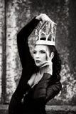 Mulher em um vestido Imagens de Stock Royalty Free