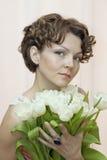 Mulher em um vestido aberto Foto de Stock Royalty Free