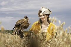 A mulher em um vestido bonito Foto de Stock