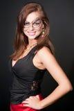 Mulher em uma máscara misteriosa Fotografia de Stock Royalty Free