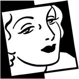 Mulher em Vogue ilustração royalty free