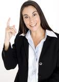 A mulher encontra a solução Imagem de Stock Royalty Free