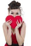 A mulher encontrou o amor. Imagens de Stock Royalty Free