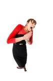Mulher engraçada Foto de Stock