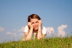 Mulher engraçada Fotos de Stock