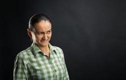 Mulher enojado Foto de Stock Royalty Free