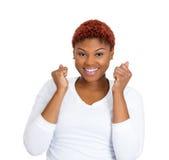 Mulher entusiasmado Imagem de Stock Royalty Free