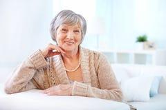 Mulher envelhecida Fotografia de Stock Royalty Free