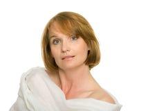 Mulher envelhecida média bonita foto de stock royalty free