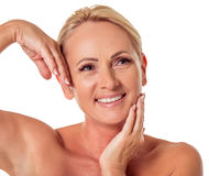 Mulher envelhecida média bonita imagens de stock royalty free