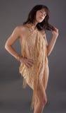 Mulher envolvida no xaile Sparkly Imagem de Stock