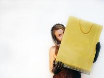 Mulher escondida Imagem de Stock
