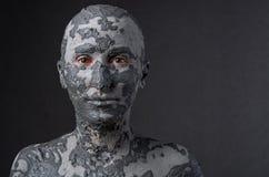 Mulher escultural na argila molhada Termas - 7 imagem de stock royalty free