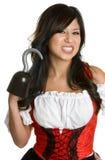 Mulher espanhola do pirata foto de stock royalty free