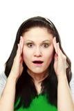 Mulher espantada Fotos de Stock