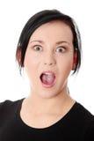 Mulher espantada Foto de Stock Royalty Free