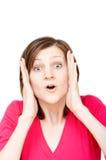 Mulher espantada Imagens de Stock