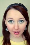 Mulher espantada e choc Imagens de Stock Royalty Free