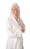 A mulher está sonhando Imagens de Stock Royalty Free