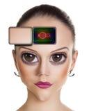 Mulher estrangeira nova Imagens de Stock Royalty Free