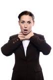 A mulher estrangula-se Imagens de Stock