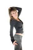 Mulher européia encantadora feliz Imagens de Stock