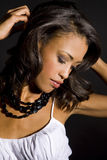 Mulher exótica fotografia de stock