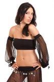 Mulher exótica bonita do dançarino de barriga imagem de stock