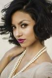 Mulher exótica nova bonita Imagem de Stock Royalty Free