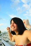 Mulher excitada Fotos de Stock