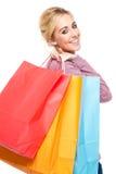 Mulher Excited da compra Imagem de Stock Royalty Free