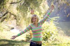 Mulher feliz Imagem de Stock