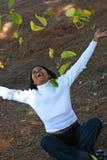 Mulher feliz Fotografia de Stock Royalty Free