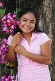 Mulher feliz fotografia de stock