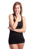 Mulher feliz bonita Imagem de Stock