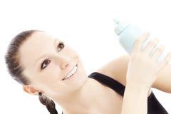 Atleta afortunado com garrafa de água Fotografia de Stock