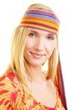 Mulher feliz com headband fotografia de stock
