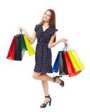 Mulher feliz da compra Foto de Stock