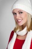 Mulher feliz do inverno foto de stock royalty free