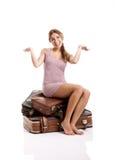 Mulher feliz do ypung Fotos de Stock