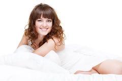 Mulher feliz encantadora Foto de Stock Royalty Free