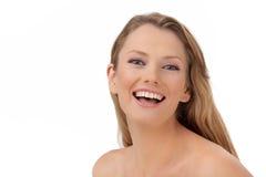 A mulher feliz nova foto de stock royalty free