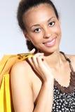 Mulher feliz - uma compra bem sucedida Imagens de Stock Royalty Free