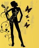 Mulher floral Ilustração Stock